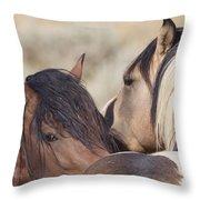 Wild Horse Secrets Throw Pillow