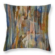 Wild Horses Abstract Throw Pillow