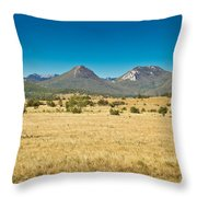 Wild Landscape Of Lika Region Croatia Throw Pillow
