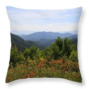 Wild Lilies With A Mountain View Throw Pillow