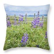 Wild Lupine Throw Pillow by Theresa Tahara