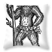 Wild Man Throw Pillow by Photo Researchers
