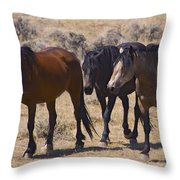 Wild Mares-signed-#0271 Throw Pillow