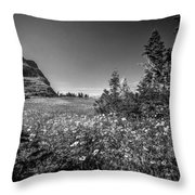 Wild Mountain Flowers Glacier National Park Throw Pillow