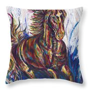 Wild Mustang Throw Pillow