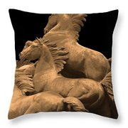 Wild Mustang Statue I I I Throw Pillow