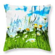 Wild Ones - Daisy Meadow Throw Pillow