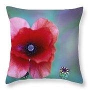Wild Poppy Throw Pillow