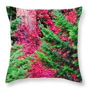 Wild Red Maple Throw Pillow