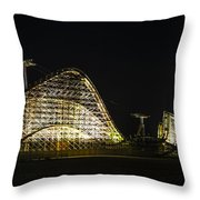 Wild Ride In Wildwood Throw Pillow