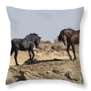 Wild Rocky Challenge Throw Pillow