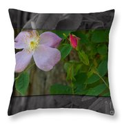 Wild Rose Out Of Bounds 2 Throw Pillow