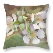 Wild Roses - Digital Paint Throw Pillow