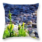 Wild Snapdragons  Throw Pillow