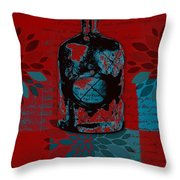 Wild Still Life - 0101a - Red Throw Pillow