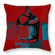 Wild Still Life - 0102b - Red Throw Pillow