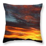 Wild Sunrise Over The Mountains Throw Pillow