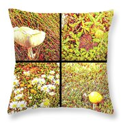 Wild Things Growing Near The Beach Throw Pillow