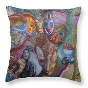 I See Faces Throw Pillow