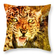 Wild Threat Throw Pillow