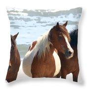 Wild Trio Throw Pillow