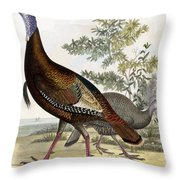 Wild Turkey Throw Pillow by Titian Ramsey Peale