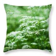 Wild Vegetation Throw Pillow by Alexander Senin