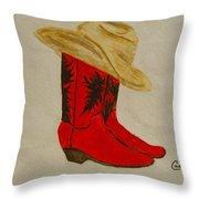 Line Dancin' Throw Pillow