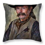 Wild West Cowboy Throw Pillow