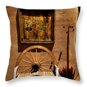 Wild West T-shirts - Old Town New Mexico Throw Pillow by David Patterson