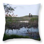 Wild Wetland Throw Pillow