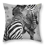 Wild Zebras Throw Pillow