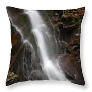 Wilderness Waterfall Dawn Throw Pillow