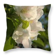 Wildf Apple Blossoms Throw Pillow