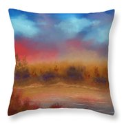 Wildfire Fire In The Sky Throw Pillow