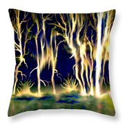 Wildfire Throw Pillow by Karunita Kapoor