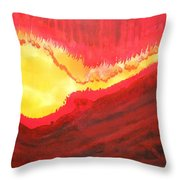 Wildfire Original Painting Throw Pillow