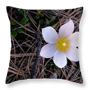 Wildflower Among Pine Needles Throw Pillow