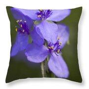 Wildflower Blues Throw Pillow