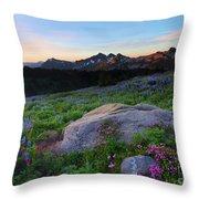 Wildflower Dawning Throw Pillow