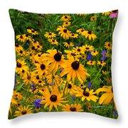Wildflower Gold Throw Pillow