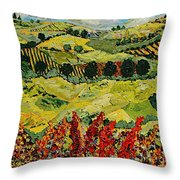 Wildflower Jungle Throw Pillow