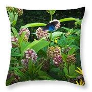 Wildflower Meadow Throw Pillow