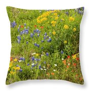Wildflower Patch Throw Pillow