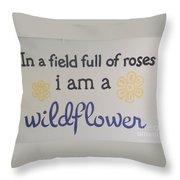 Wildflower Phrase Throw Pillow