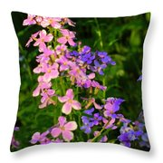 Wildflower Woods Throw Pillow