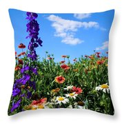 Wildflowers #7 Throw Pillow