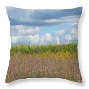 Wildflowers And Ornamental Grass Throw Pillow
