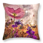 Wildflowers At Dawn Throw Pillow