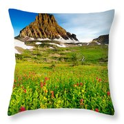 Wildflowers At Logan Pass Throw Pillow